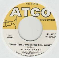 BOBBY DARIN 45 WON'T YOU COME HOME BILL BAILEY B/W I'LL BE THERE VG+ ATCO 6167