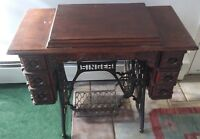 Antique 1900 Singer Treadle 6 Drawer Sewing Machine Oak #N178668 Elizabethtown