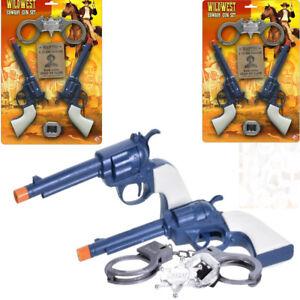 Wild West Cowboy Gun Pistol & Accessories Play Set For Fancy Dress & Roll Play