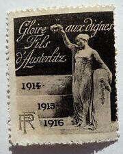 ANCIEN TIMBRE / VIGNETTE DELANDRE / GLOIRE AUX DIGNES FILS D'AUSTERLITZ