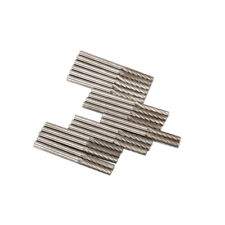 """20Pcs Tungsten Carbide Cylinder Rotary Burrs Drill Bit Single Lines Tool 1/8"""""""
