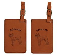 L3890 Schnoodle Luggage Tags 2Pk Free Shipping
