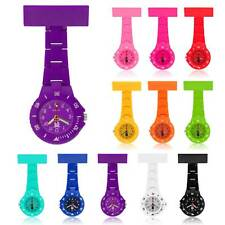Colorful Nurse Watch Brooch Tunic Fob Quartz Watch With FREE BATTERY
