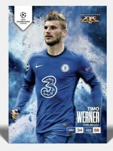 TOPPS Match Attax Fire Card Timo Werner Designed By Tyson Beck Print run /250