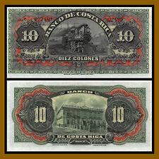 Costa Rica 10 Colones, ND 1901 P-S174r Train Unc