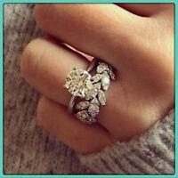 Round Cut 2.50 Ct Diamond Engagement Wedding Band Bridal Set Ring 14K White Gold