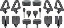 1963-1964 CHEVROLET IMPALA RUBBER SNAP-IN-STOPPER BUMPER 16PCS KIT MADE IN USA