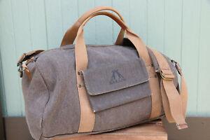 KTA Kakadu Traders Australia Brown Canvas Duffle Weekender Shoulder Bag