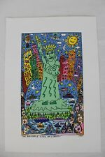 "RARE James Rizzi  "" THE BIG APPLE IS BIG LIBERTY"" 2-D Pop Art 1999 Lithograph"