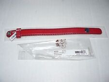"""New COACH Red Leather Bracelet With Anchor On The Snap (Fits Up To 6.5"""" Wrist)"""