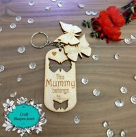 Personalised This Mummy Belongs To Key Ring, Mothers day, Gifts. Choice of Names