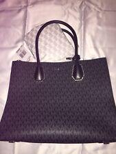 Michael Kors Mercer Studio Large Convertible Black Pewter Tote Crossbody Bag