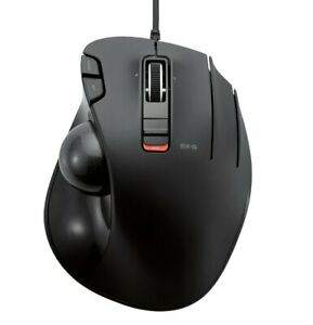 Brand New ELECOM mouse trackball wired 6 button black