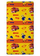 Sam Pompier drap housse 90x200 cm 100% Coton idée déco Fireman Sam