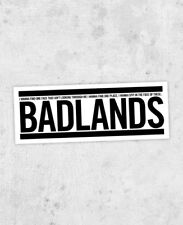 "Bruce Springsteen ""Badlands"" bumper sticker! darkness on the edge of town"