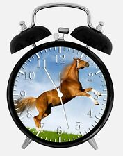 "Beautiful Horse Alarm Desk Clock 3.75"" Home or Office Decor Y93 Nice For Gift"