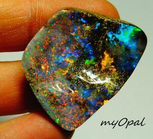 +++ TOP GEM Boulder Opal -Farbwandler Multicolor Farbpower Traum Stein !!!