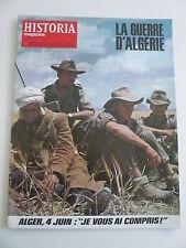 HISTORIA mag LA GUERRE D'ALGERIE n° 261 Alger le 4 juin  JE VOUS AI COMPRIS