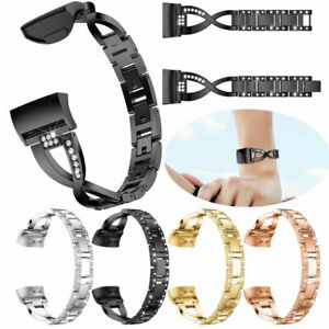 Stainless Steel Metal X Shape Replacement Band Strap For Fitbit Charge 5 4 3 2