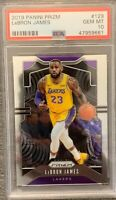 IN HAND 2019-20 Panini Prizm #129 LeBron James PSA 10 GEM MT FREE SHIPPING
