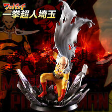 """One Punch Man Saitama PVC Figure 10"""" Hero Come Back From The Moon Tsume In Box"""