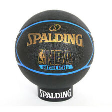 Spalding NBA Blue Highlight Basketball Size7 (29.5'') Outdoor Street Game Balls