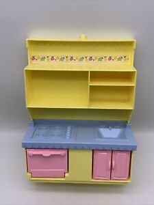 Playskool Victorian Dollhouse Replacement Kitchen Oven Stove Sink Yellow