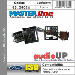 CONNETTORE ISO PER SISTEMA BLUETOOTH FORD FIESTA DAL 2005 AL 2008 MASTERLINE