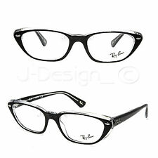 Ray Ban RB 5242 2034 Black on Clear 53/18/140 Eyeglasses Rx - New Authentic
