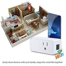4X Smart WiFi Remote Control Timer Switch Socket US Plug Outlet Alexa Google