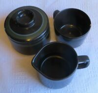Mikasa Intaglio Majorca 7501 Blue/Green/Brown Sugar Bowl + Creamer + Cup RARE!!!