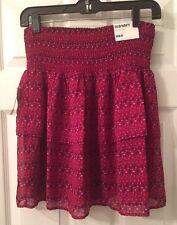 Old Navy Print Ruffled Skirt Junior Size Medium NWT