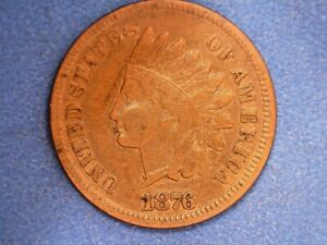 US Coins 1876 Indian Cent