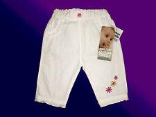dolce piccolo bianco Pantaloni - Ragazze estivi con Ruffle bordo tg. 62 NUOVO