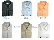 New Men's Stylist French Cuff Tone on Tone Stripe Dress Shirt Long Sleeve SG29