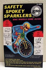 Bicycle Spoke Sparkler Gumball Vending Machine Toy Sign