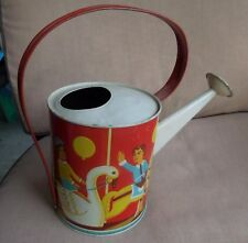 Tin Lithographed Toy Watering Can By Wolverine Merry-Go-Round Amusement Park