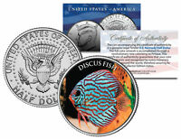 DISCUS FISH *Fish Series* JFK Kennedy Half Dollar U.S. Colorized Coin