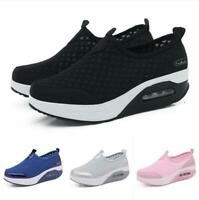 Damen Slipper Platform Krankenschwester Loafer Freizeit Sneaker Komfort Schuhe