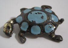 Vintage Turtle Pin Brooch Retro Pot Metal Enamel Paint Damage TLC Restore Repair