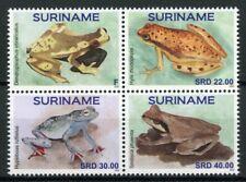 Suriname Frogs Stamps 2020 MNH Amphibians Frog Kikkers 4v Block