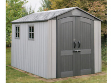Lifetime 7ft x 12ft (2.1 x 3.7m) Simulated Wood Look Storage Shed With Windows