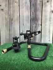 "Deluxe Sprinkler Base W/ New 3/4"" Vyrsa Dbl Noz Adj Impact Sprinkler N Wobbler"