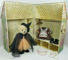 Holly The Holiday Bear w Wardrobe Trunk + Halloween Christmas Dress FranklinMint
