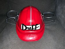 Duff Classic Adult Hard Hat Helmet The Simpsons Duff 2 Beer Can Holder Hat RARE