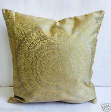 Indian Patchwork Mandala Sari Ethnic Vintage Banarasi Cushion Cover 16x16 40x40