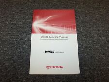 2008 Toyota Yaris Hatchback Owner Owner's Operator User Guide Manual CE LE 1.5L