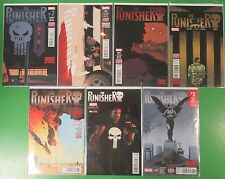 The Punisher Run Lot # 2 3 4 5 6 7 + Cosplay Variant 2016 - Marvel