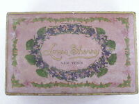 """Vintage 1940's Candy Tin """"Louis Sherry New York"""" w/ Pretty Little Violets *"""