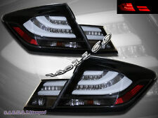 Black LED Tail Lights for 2013-2015 Honda Civic 4Door Sedan